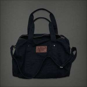 Abercrombie & Fitch NWT Womens Heritage Navy Blue Duffle Tote Book