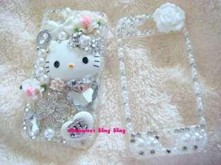 Bling Rhinestones Hello Kitty Decor Kit iphone HTC 042