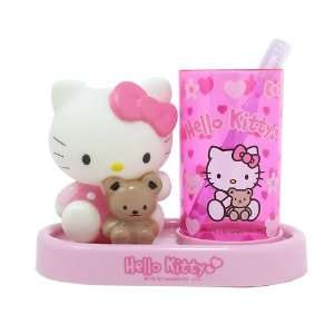 Sanrio Zahnputz Becher Hello Kitty Groesse 18 x 15 cm Farbe pink