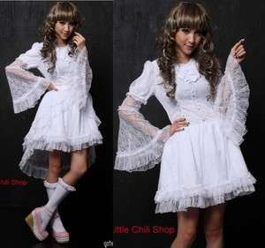 Dolly Gothic Punk Lolita Lace Party Dress 61219W S~L