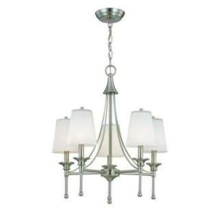 Hampton Bay 5 Light Sadie Collection Satin Nickel Chandelier 15433 029