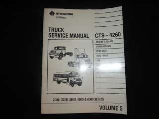 86 91 International Truck Service Manual Volume 5 CTS 4260 from