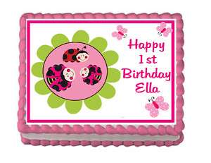 LADYBUG Edible Cake Party Image Topper Custom CUTE