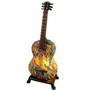 PRETTY ACCOUSTIC GUITAR MULTI COLOR TABLE LAMP  1253