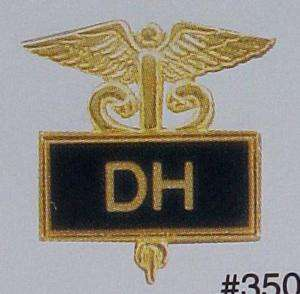 Dental Hygienist Emblem Inlaid Pin Caduceus 3503B New