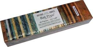 Hoffman Bali Pops BLUEBERRY 40 Batik 2.5 Fabric Strips Jelly Roll