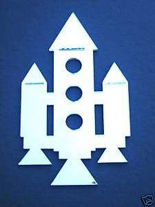 Rocket Ship Frameless Mirror/Shatterproof/Bedroom Decor