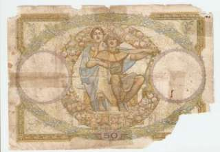 France 50 Francs 4 1 1934 Fair Banknote P 80b