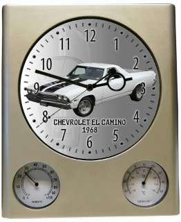 Wanduhr mit Motiv Chevrolet El Camino 1968 Uhr