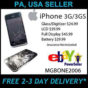 iPhone 3GS LCD & Digitizer (Mail In Diagnostics & Repair Service