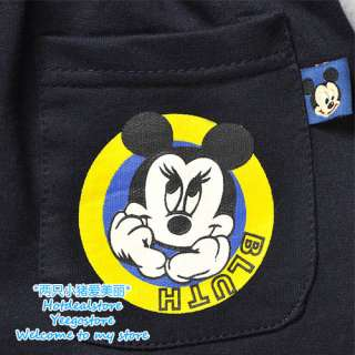 NWT Boys Dark Blue Mickey Mouse Pants 2 8 yrs
