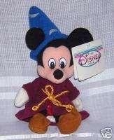 Disney Sorcerer Wizard Mickey Plush Bean Bag