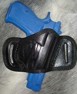 RUGER sr9 sr40 sr9c sr40c BLACK LEATHER BELT SLIDE SPEED HOLSTER by