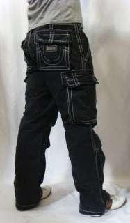 NWT TRUE RELIGION Brand Jeans Mens Big T White Stitch Anthony Cargo