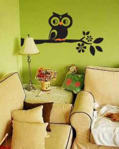 Wallpaper Graffiti Wall Vinyl Sticker Decal OWL