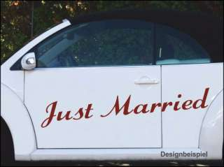 Just Married Auto Aufkleber Hochzeit Dekoration A5 1m