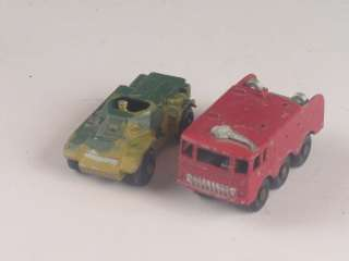 Lot (11) Vintage Matchbox Lesney Tonka Toy Vehicles Fire Truck