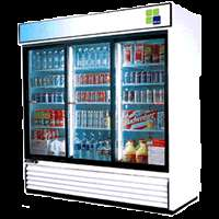 Air TGM 69R Commercial Refrigerator 78 3 Glass Door Merchandiser