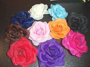 ROSE flower hair bow GIRLS women BRIDAL prom PAGEANT pin up NEW