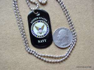 UNITED STATES NAVY EAGLE SEAL DOG TAG NEW WITH CHAIN