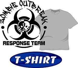 Zombie Outbreak Response Team T Shirt Funny Humorous Funny Apocalypse