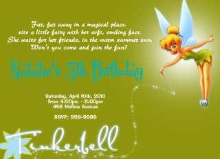 15) Tinkerbell Personalized Custom Birthday Invitation