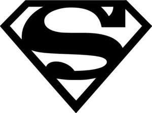 Superman Logo Vinyl Sticker Decal DC Comics Movie   Choose Size and