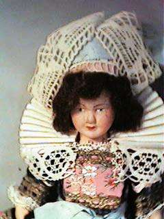 Charming 7 Celluloid Doll French Provincial Outfit