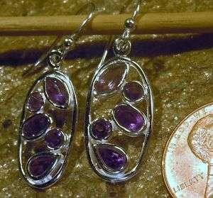 New Jewelry Sterling Silver Amethyst Gemstone Earrings