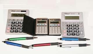 ELECTRONIC CALCULATORS 2 LARGE & 2 SMALL CALCULATORS PLUS 5 FREE INK