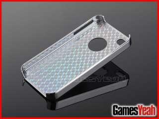 Deluxe Blue Aluminum Chrome Hard Case Cover F iPhone ATT Verizon