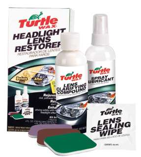 Head light restorer kit lens repair Turtle Wax