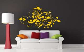 Ƹ̵̡Ӝ̵̨̄Ʒ Floral Ornament Wall Decor Decal Art Stickers