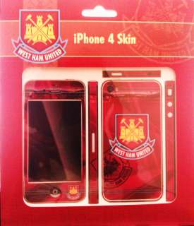 New official West Ham United FC iphone 4 skin sticker