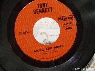 TONY BENNETT 45 RPM Vinyl Record Im Losing My Mind / More and More