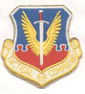 1970s 80s TACTICAL AIR COMMAND patch
