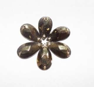 Sew On Crystal Pear Shape Black Diamond Rhinestone