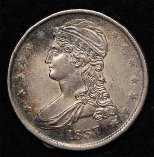 1837 Reeded Edge Bust Half: Borderline Uncirculated, Free Shipping