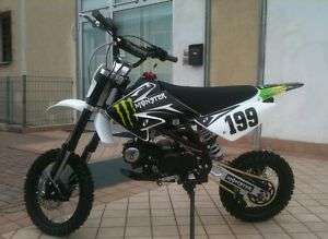 PIT BIKE BSE CROSS 4 TEMPI 140CC MONSTER RACING NERO