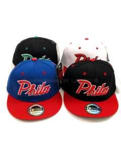 Phila Flat Peak Baseball Snapback Hip Hop Caps