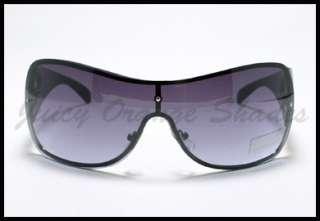 TATTOO Fleur De Lis Design SHIELD Fashion Sunglasses GUN METAL