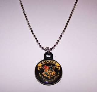 Harry Potter/Hogwarts Crest 1 Button Charm Necklace