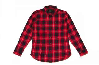 Obey Prospect Shirt Red Check   Camicia Scozzese Tg L