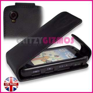 LEATHER FLIP COVER CASE POUCH FOR LG GT505
