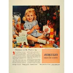 1941 Ad Hercules Plastic Girl Child Christmas Tree Toys