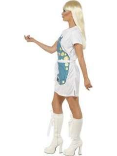 NEW 70S FUNKY DISCO LADIES FANCY DRESS COSTUME S&M&L