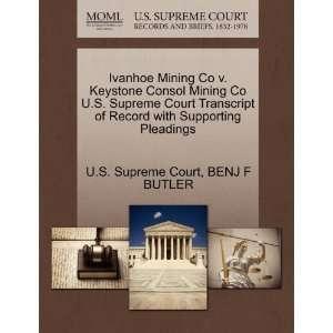 Ivanhoe Mining Co v. Keystone Consol Mining Co U.S