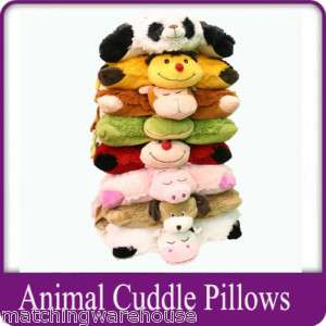 TRAVEL PILLOW HEAD CUSHION SOFT TOY Kids Animal Designs