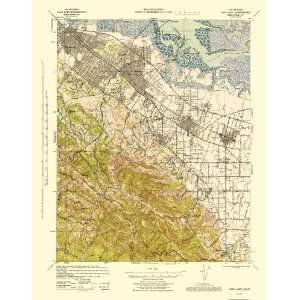 USGS TOPO MAP PALO ALTO QUAD CALIFORNIA (CA) 1943 Home