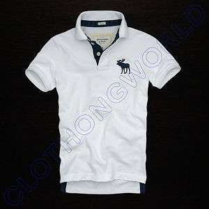 Mens Abercrombie & Fitch ~ A & F ~ White Polo Shirt ~ Sizes  S, M, L